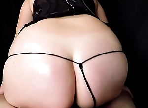 Shagging and Sloppy Blowjob With Massive Ham-handed Facial in Excited Corset and Tiny G String