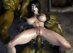BRUNETTE AND ORCS OVERWATCH