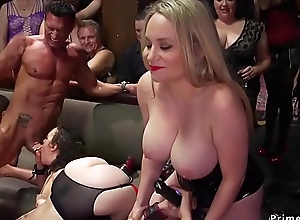 Orgy interracial anal sex at bdsm party
