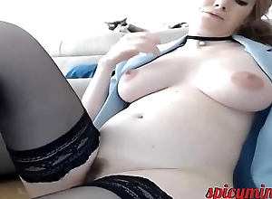 Chubby Brunette all over a Flimsy Pussy