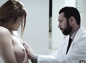 Adria'_s virgin pussy checked by doctor
