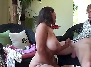 Stepmom teaches stepson sex mastery