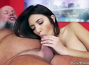 FuckMeGramps - Busty Latin Minx Facialized by a Grandpa
