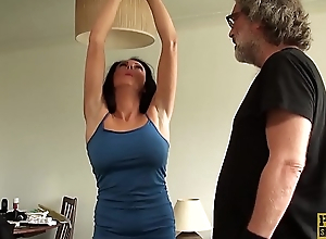 Restrained MILF Jess Scotland dominated with an increment of regarding drilled