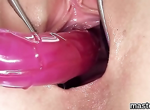 Nasty czech kitten stretches her flavourful slit to the special