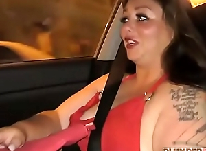 Sexy Plumper Vanessa London Picked up at one's fingertips Bus Stop and Screwed