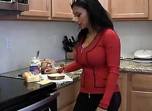 Mommy gives Jonny breast dessert