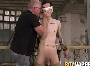 Composed twink gets bound with an increment of blown by perverted pa