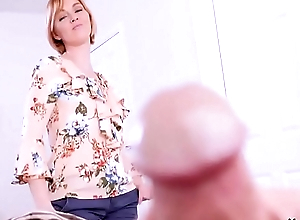 Mom masturbates to son'_s cock!