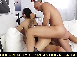 Cast ALLA ITALIANA - Brunette Italian minx hardcore three penetration
