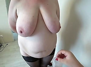 Milf came almost the reception almost the nurse and got an orgasm from fisting, a bbw doggy position shakes beautiful booty, lesbian babes POV.