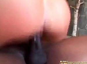 NWORSHIP Horny Tracy doing wet blowjob increased by anal fuck with Heavy Black men's huge cocks