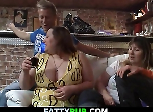 Biggest tits lady receives naked and gives head