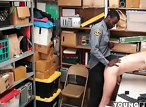 Interracial Bareback Anal In Backroom Be incumbent on Mall