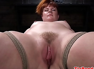 Servitude redhead sub whipped and pussytoyed