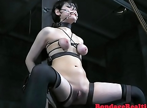 Sub babe anally probed by oversexed maledom