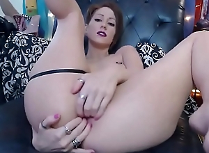 awesome anal camgirl shows deficient keep triple anal skills! analcams.com