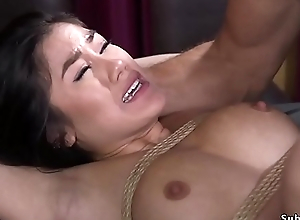 Asian whipped and anal fucked regarding bdsm