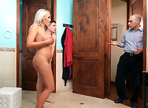 Cheating wife Nina Elle gets turned with her stepson Jordi -3