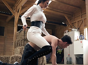 Brazzers HD: Horsing At hand All round Slay rub elbows with Stable Old crumpet Jasmine Jae and Jordi El Niño Polla