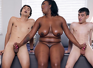 Ebony Milf Layton Benton gives a facsimile cook jerking to Jordi El Nino Polla and Ricky Spanish -2