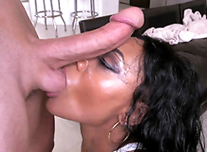Jayla Foxx does a nasty deepthroat with a lot of twice
