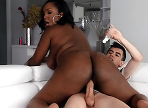 Jordi squirts oil all wantonness Layton Benton's chunky black ass