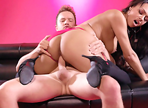 Ebony Bethany Benz takes a ride on Van Wylde's hard white meat