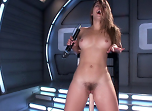 Horny Dani Daniels machines sexual relations & varied toys