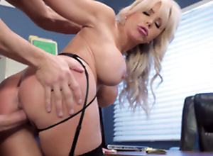 Nina Elle - Eradicate affect boss' Naughty wife acquires a mass be proper of jizz served near her cunt