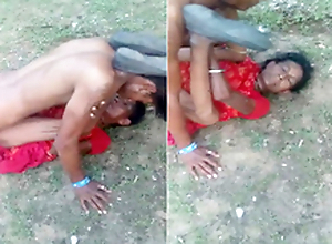 Exclusive- Desi elderly randi fucking outdoor by youthful guy