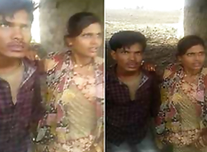 Desi Couple OutDoor Having it away Caught By village People