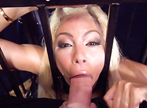 Alluring Luna Star always longed-for to try BDSM plus that XXX day came