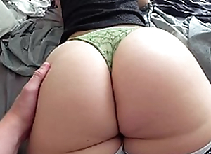 Youthful Russian maw with big booty drilled by XXX partner from behind