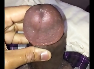 Solo ebony masturbate morning wood until cum hot