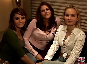 GIRLS GONE WILD - Lesbians Kimberly, Malorie and Shannon Have a Party Of Team a few