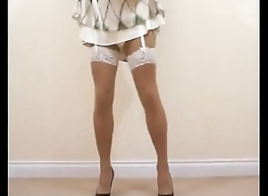 Silk Dress &amp_ Stockings