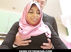 Thick Big Ass Mint Muslim Teen Step Daughter Ella Knox Has Sex Connected with Step Dad After He By the by Mistakes Her For Her Mom