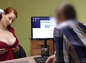 LOAN4K. Agent in credit convocation can't live without boobs be useful to his gorgeous customer