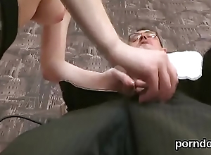 Fervid college girl gets teased increased by fucked by senior teacher