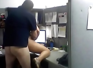 office fucking in  cabin
