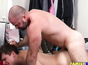 Confessor Rough Fucking His Sons Asshole