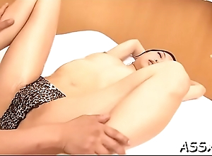 Lovely oriental experiences wild anal banging and beaver toying