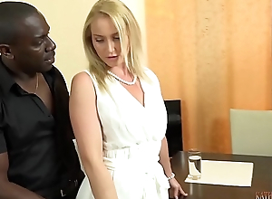 Your gorgeous WHITE wife FUCKING your boss'_s 11 inches BIG, BLACK Load of shit right front of you!