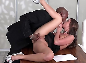 Black - Little Self-love get fucked first time from a  black broad in the beam cock