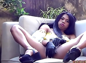 Amateur Ladyboy Adriana Jerks Deficient keep
