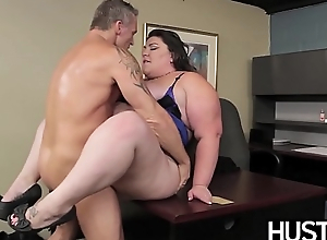 BBW goddess Bella Bendz bent depart from added to domesticated way down