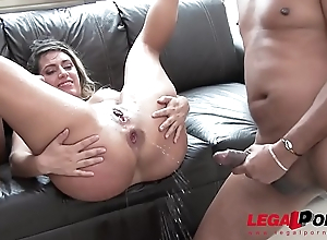 Mia Linz 3on1 being horseshit fuck session with DP &amp_ pissing