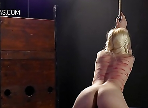 Two perverts punish a slave