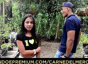 CARNE DEL MERCADO - Young petite Colombian chick pounded hard